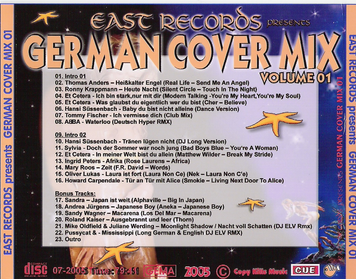 East Records Presents - German Cover Mix Volume 01