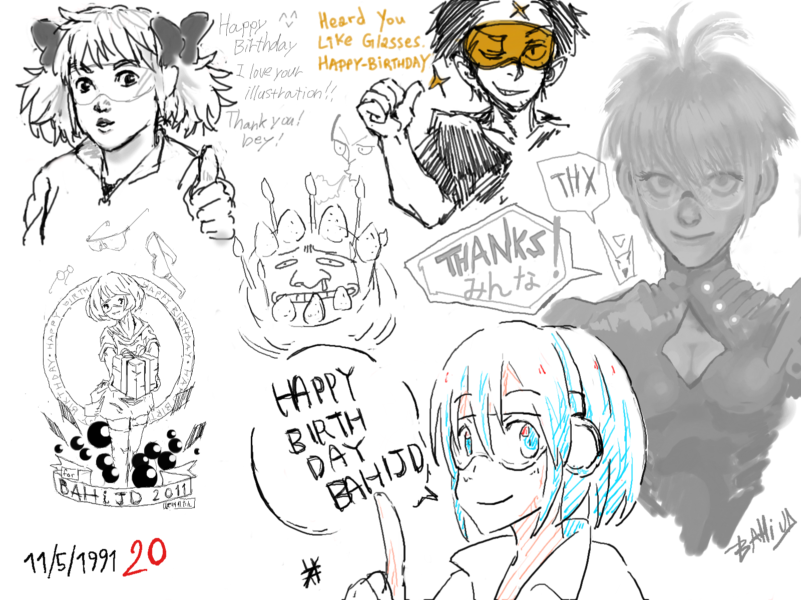 Bahi JD pixiv chat birthday 2011