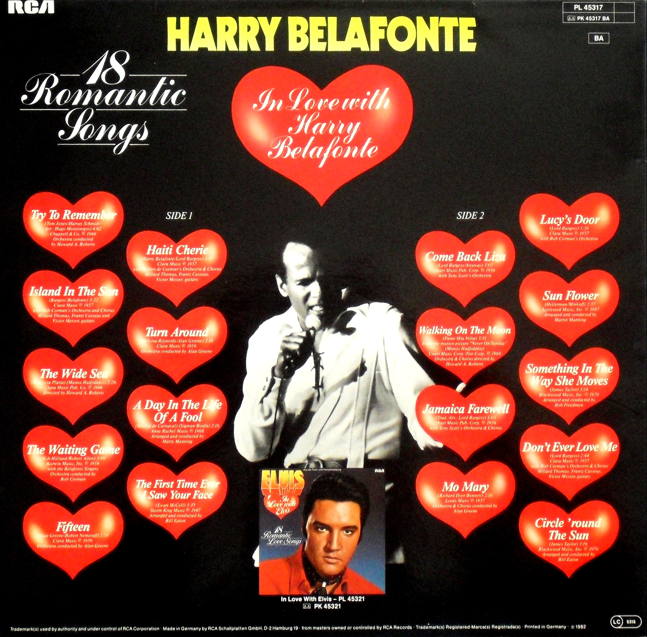 IN LOVE WITH ELVIS - 18 ROMANTIC LOVE SONGS Belafonte...49d4i