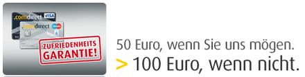 Bis zu 100 Euro bei comdirect geschenkt