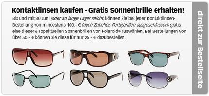 Sonnenbrille gratis