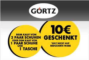 Görtz 10 Euro Gutschein