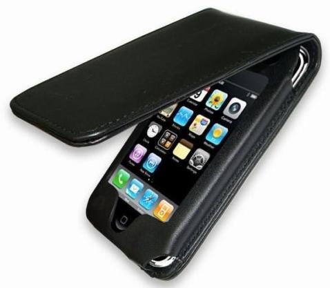 knaller iphone schwarze leder tasche f rs iphone nur 1. Black Bedroom Furniture Sets. Home Design Ideas