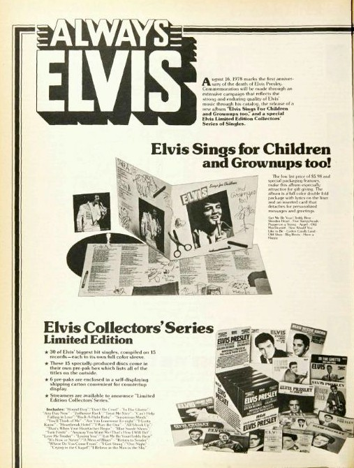 ELVIS SINGS FOR CHILDREN AND GROWNUPS TOO! Billboard1978...5idbq