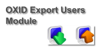 OXID Export Users Modul