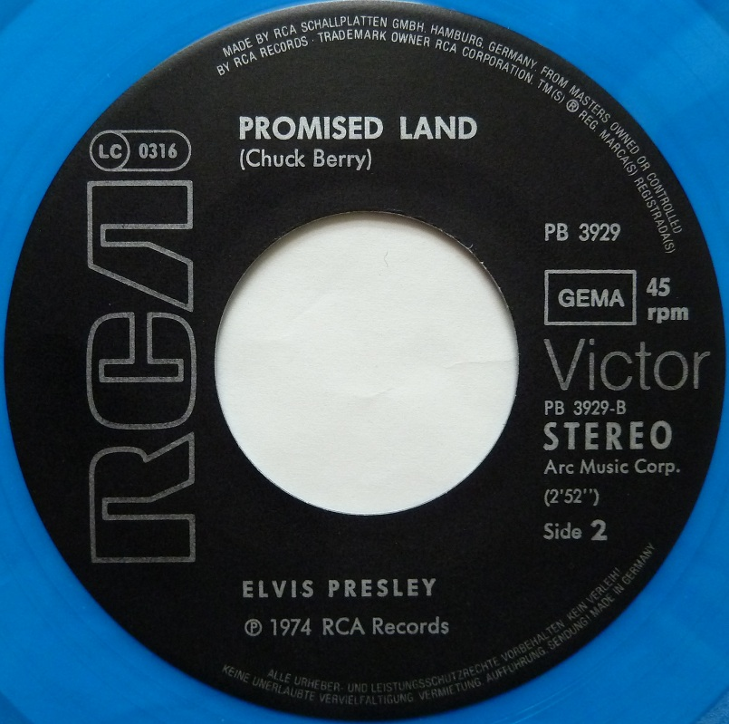 Blue Suede Shoes  / Promised Land Bluesuedeside2b4u57