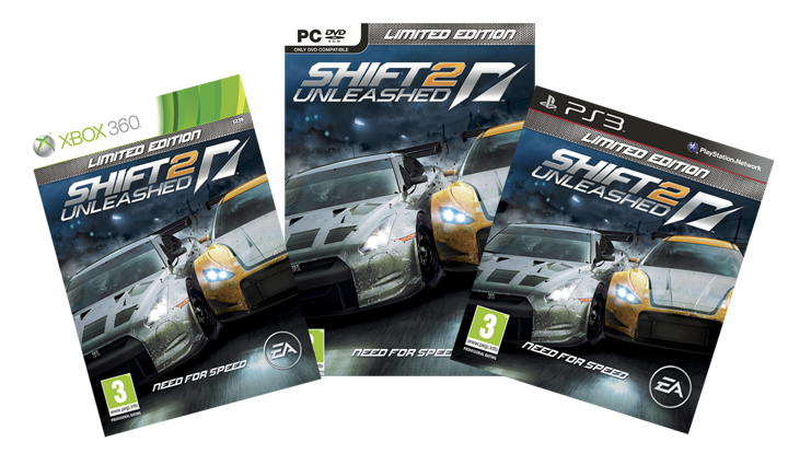 Shift 2 unleashed ot is there still need for speed for 2 box auto con stanza bonus