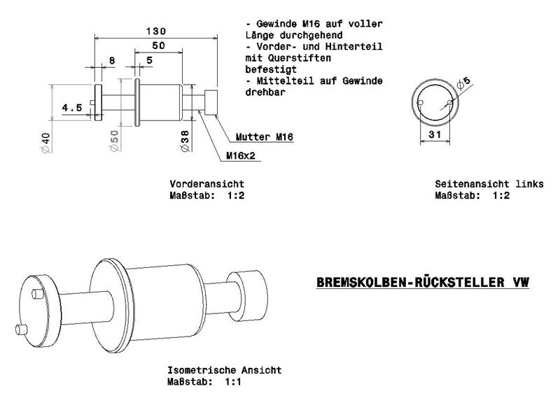 bremskolbenr cksteller selber bauen industrie werkzeuge