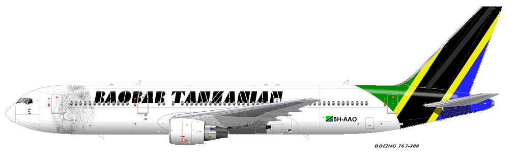 Baobab Tanzanian Airways Bta763kopie20zh