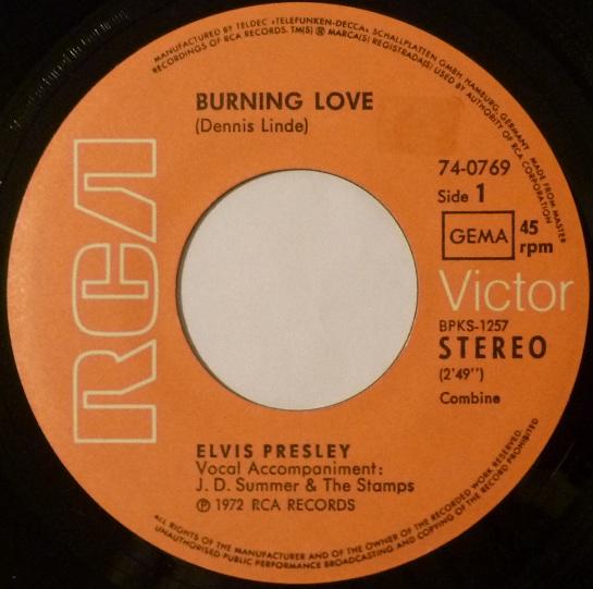 Burning Love / It's A Matter Of Time Burningside18k7wv