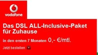 Vodafone DSL 7 Monate gratis