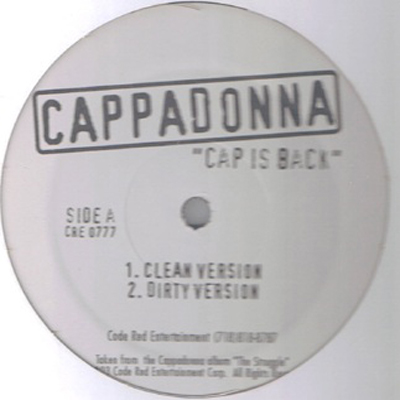 Cover: Cappadonna - Cap is Back Bw Blood Brothers-VLS-2003-FrB