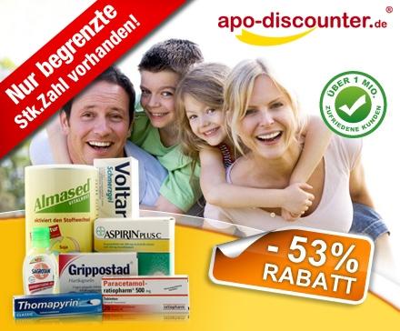 DailyDeal: 16€ Gutschein für die Online Apothe apo-discounter ab 4,50€! - Medikamente