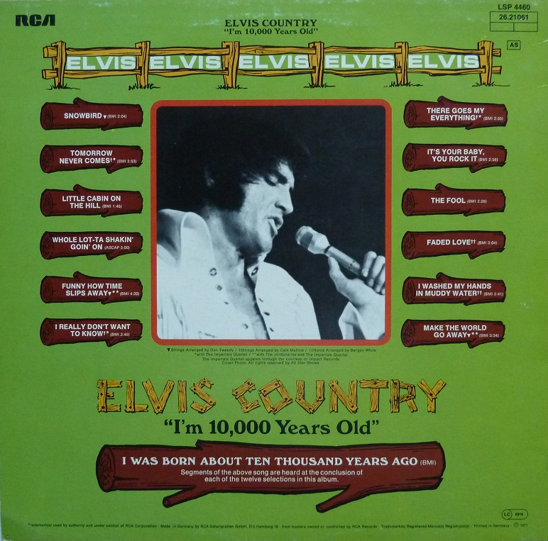 I'M 10,000 YEARS OLD - ELVIS COUNTRY Country77rckseiteebk4d
