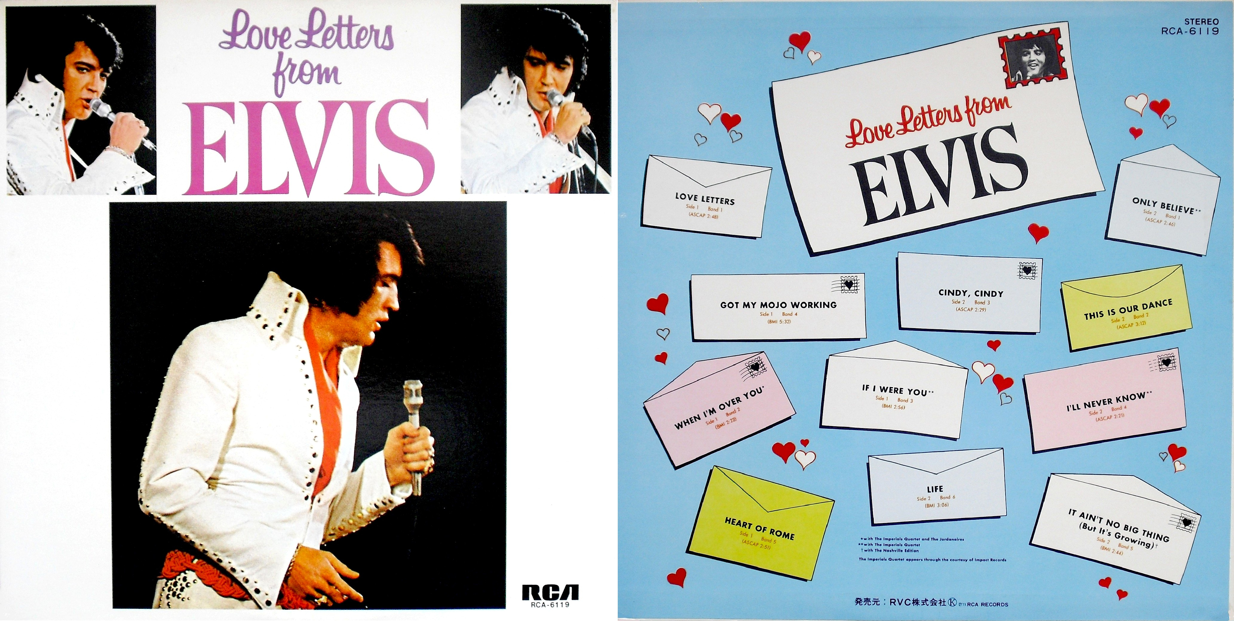 LOVE LETTERS FROM ELVIS Coverohneobiwrfob