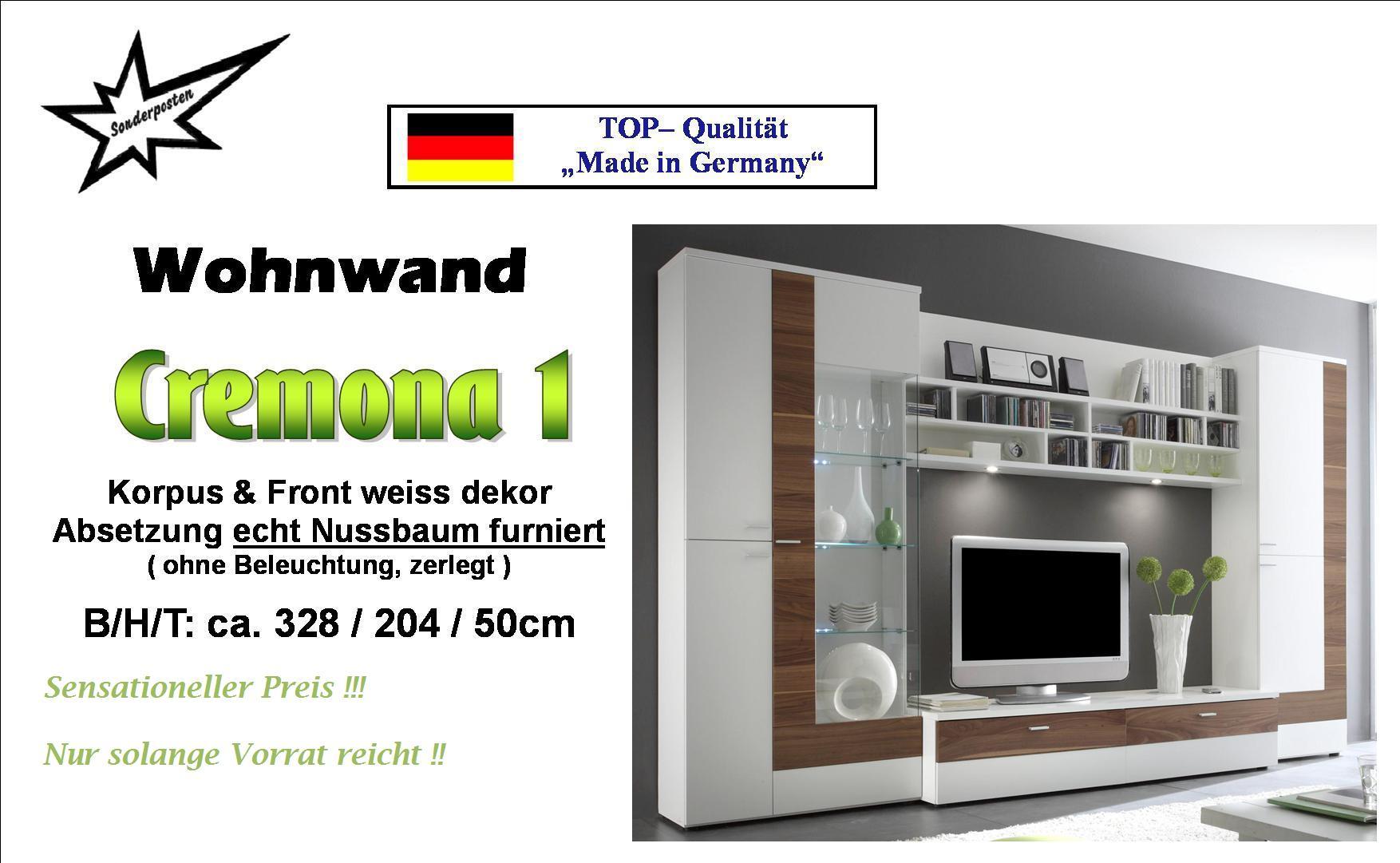 Wohnzimmerschrank Schrankwand Wohnwand Weiß Neu  eBay
