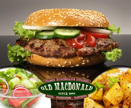 DailyDeal Hamburg: Bio-Burger für 2 Personen mit Beilagen im Old MacDonald (Osterstraße) für nur 12,90€
