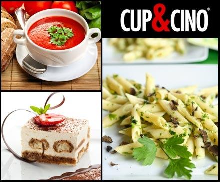 DailyDeal Hamburg: 3-Gänge-Menü für 2 Personen im Cup&Cino (Alster) - Pasta à la carte - für nur 12,90€