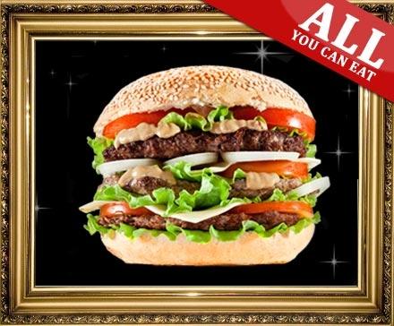 DailyDeal Hamburg: XXL-Burger All-You-Can-Eat für 2 Personen im Golden Cup in Norderstedt für nur 14,90€! inkl. Beilagen