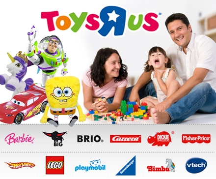 DailyDeal: 20€ Toys'r'us Gutschein für nur 9,50€ - Brettspiele, Spiele & Spielzeug günstig! - Lego/Playmobil