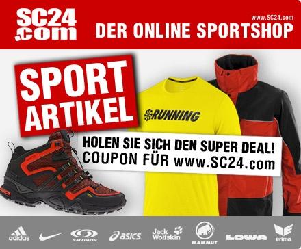 DailyDeal: 50€ Gutschein für SC24.com - nur 19,99€ - Marken-Sportklamotten und Schuhe!