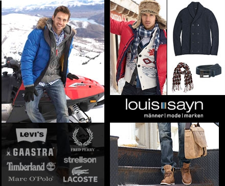 DailyDeal: 60€ louissayn.de Gutschein für nur 17,67€ dank Gutschein - Markenkleidung für Männer