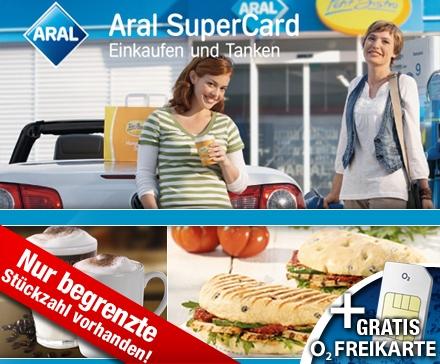 Erneut: DailyDeal: 10€ Aral Tankgutschein & o2 Freikarte mit 1€ Startguthaben für nur 5€!