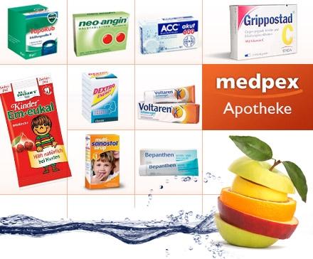 ProSiebenProducts: 15€ Gutschein für Medikamente der Online Apotheke medpex für nur 2,50€ - dank 5€ Gutschein!