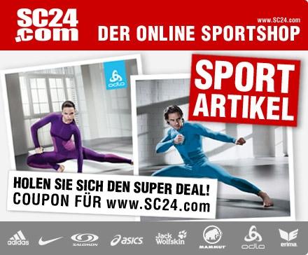 DailyDeal: 60€ Gutschein für SC24.com - nur 23,24€ - Marken-Sportklamotten und Schuhe!