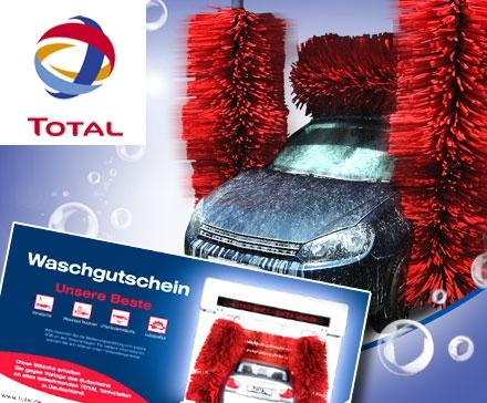 Dauerbrenner DailyDeal: komplette Autowäsche inkl. Lotuspolitur bei TOTAL für 7€