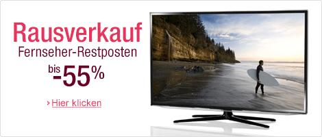 amazon: Rausverkauf! - Fernseher Restposten bei amazon mit bis zu 55% Rabatt! -