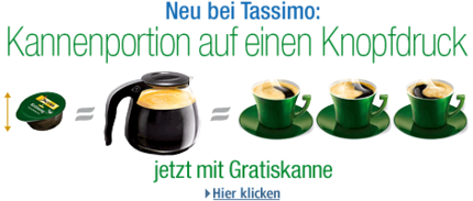 tassimo kaffeekanne gratis zum 5er pack tassimo verw hnkaffee sparbote schn ppchen. Black Bedroom Furniture Sets. Home Design Ideas