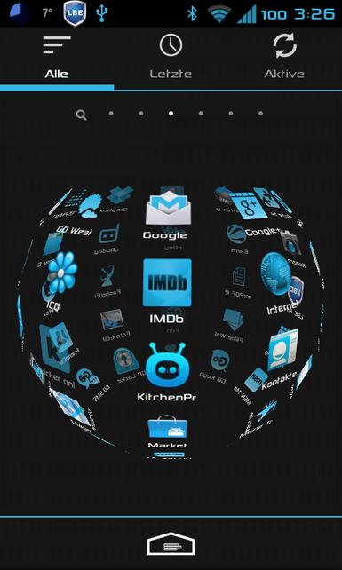 App drawer übergang zoomen vertikale ansicht oder circle horizontale