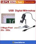 Leuchtturm Digitales USB Mikroskop 20-200x ZOOM