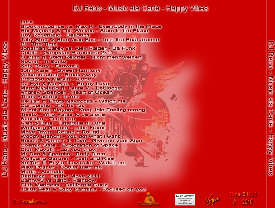 DJ Rйno - Music ala Carte - Happy Vibes