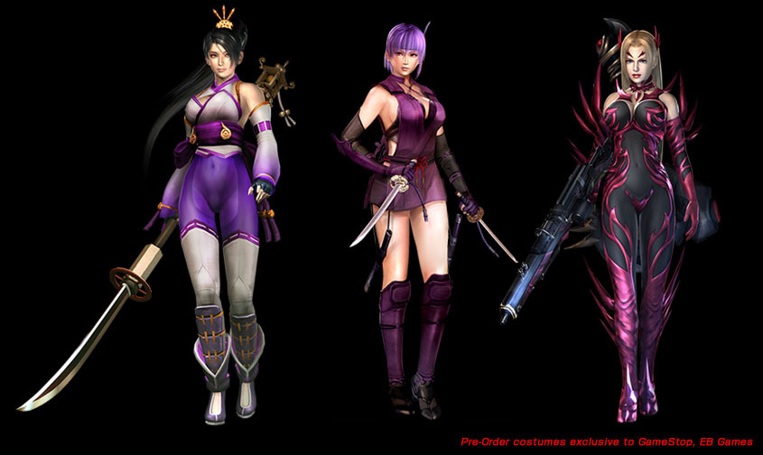 Gaiden sigma 2 plus includes new costumes for every playable character