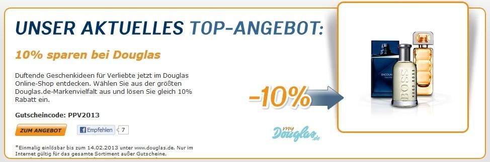 Douglas: aktueller 10% und 5€ Rabatt Gutschein - Liste der kostenlosen Zugaben - der Valentinstag naht!!