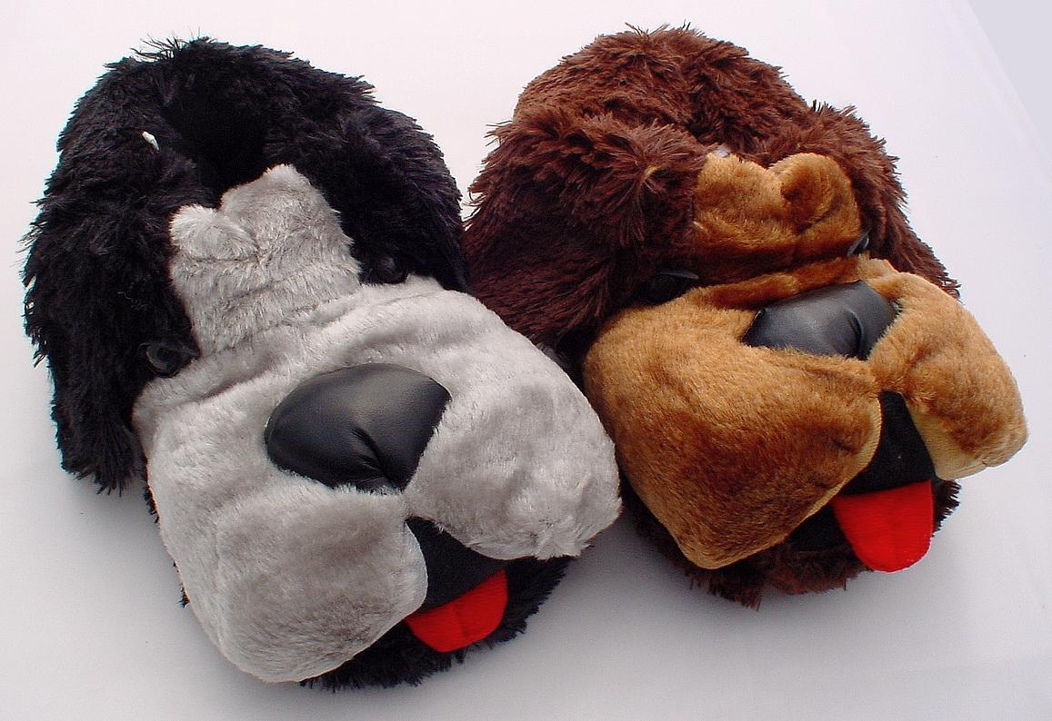 tierhausschuhe hunde hausschuhe pl sch lustig pantoffel. Black Bedroom Furniture Sets. Home Design Ideas