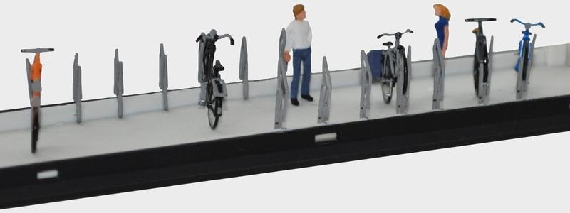 H0 Bausatz farbig unbemalt Preiser 17161 Fahrräder Fahrradanhänger