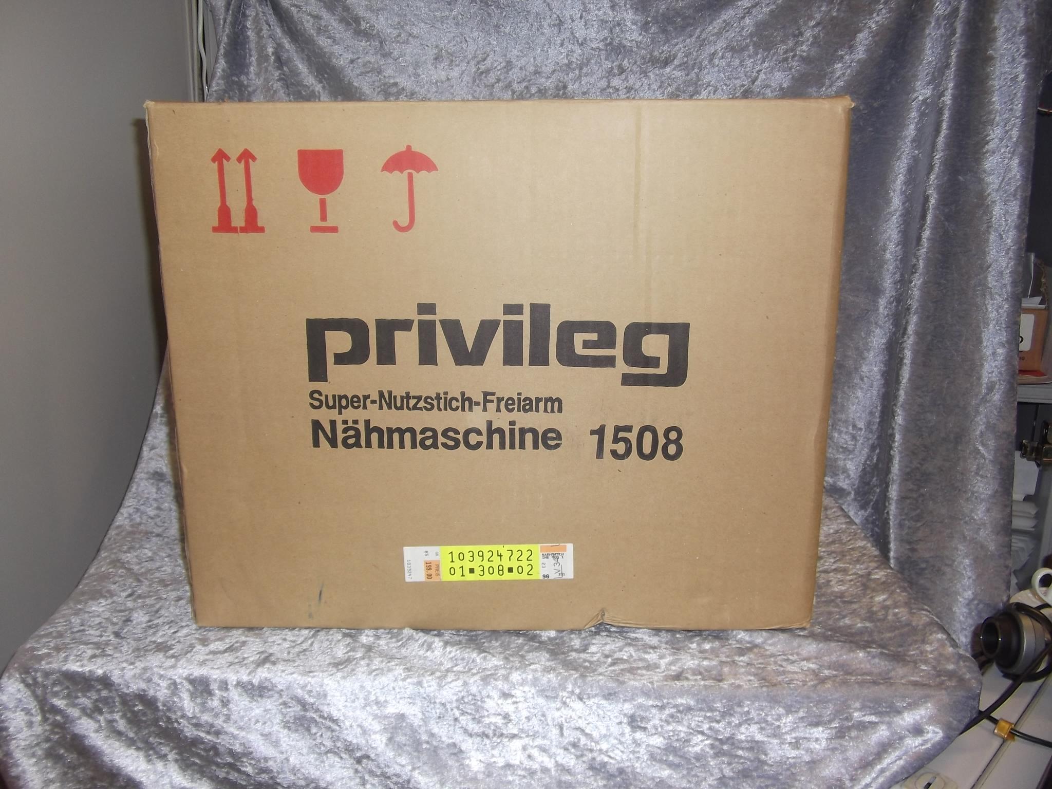 Nähmaschine PRIVILEG 1508 SuperNutzstichFreiarm mit viel  -> Nähmaschine Privileg Super Nutzstich Bedienungsanleitung
