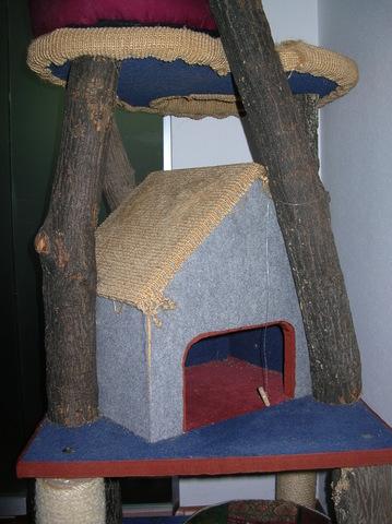 kratzbaum selber machen. Black Bedroom Furniture Sets. Home Design Ideas