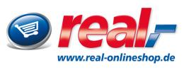 Anzeige Logo real,- Onlineshop