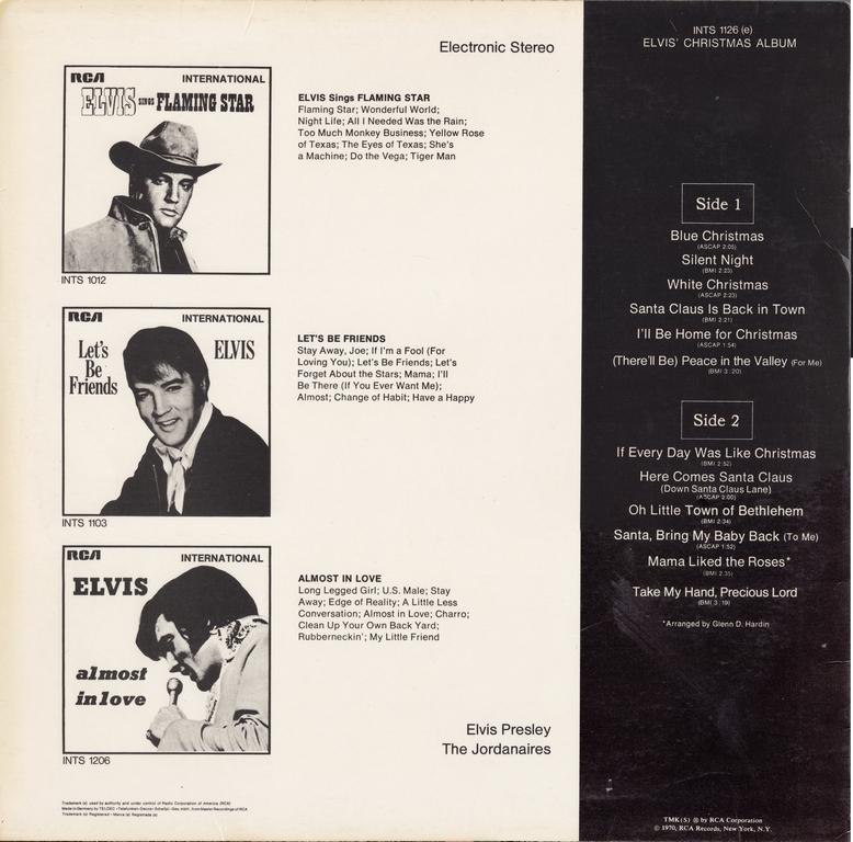 ELVIS' CHRISTMAS ALBUM (1970) Ecagermany70thback7ukik