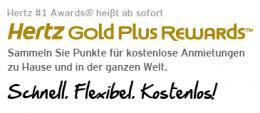 Hertz GoldPlus Anzeige