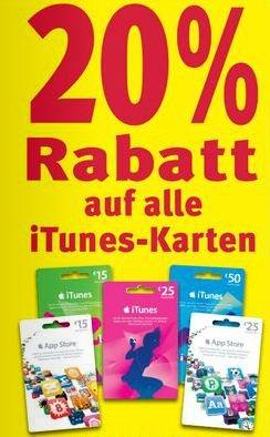 iTunes Rabatt Rossmann