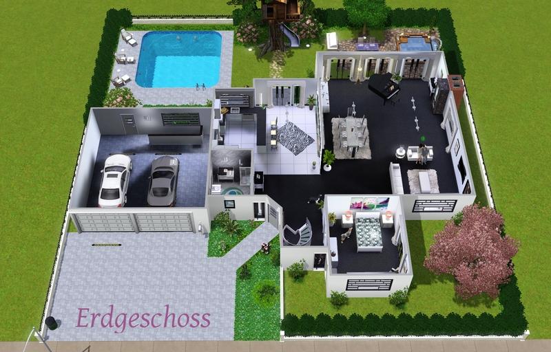 Villa grundriss sims 3  Vorstellung) Luxusvilla vom feinsten - Das große Sims 3 Forum von ...