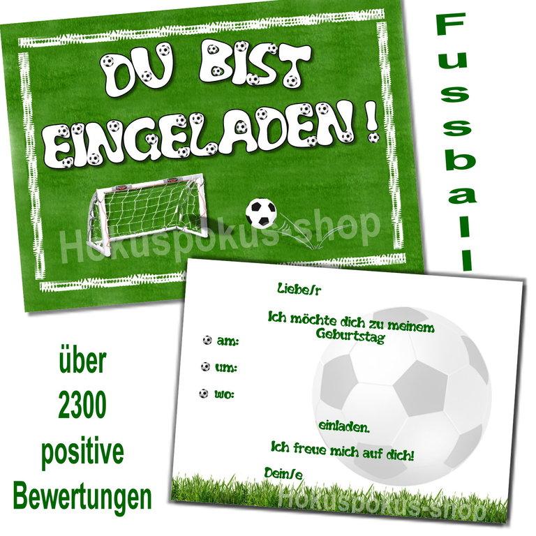 Einladungskarten Kindergeburtstag FUßBALL Mottoparty Einladungen ...