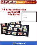 50 Einsteckkarten A5 mit Rand 1 Streifen á 115mm