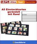 50 Einsteckkarten A5 mit Rand 5 Streifen á 15mm