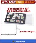 50 Schutzhüllen für A5 Einsteckkarten 204 x 147 mm